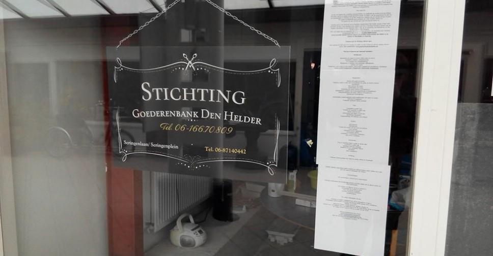 Sponsor Stichting Goederenbank.
